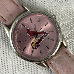 Game Time S t. Louis Cardinals Ladies Pink Watchj